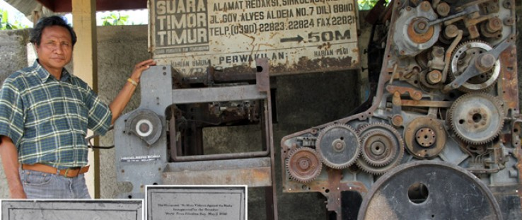 This Timor-Leste printing press—the only one in the country—was destroyed in 1999 in violence following a referendum on independ
