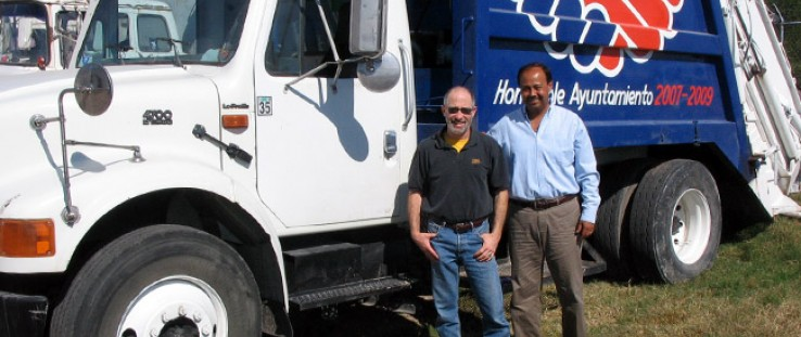 Campbell Public Works Director Robert Kass, left, and former Rioverde Mayor Sergio Gama Dufour in Rioverde.