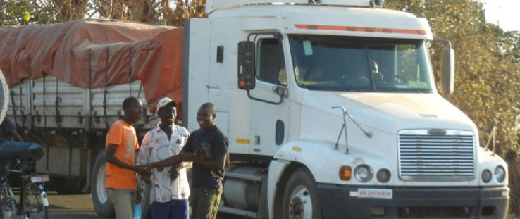 USAID is helping to reduce border delays for traders. Pictured: The Mwanza-Sobue Border Post, Malawi-Mozambique.