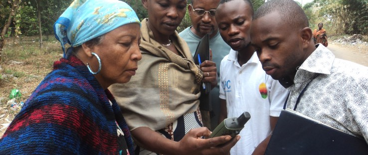 OSFAC provided training on field data collection using the Global Positioning System at the University of Kinshasa.