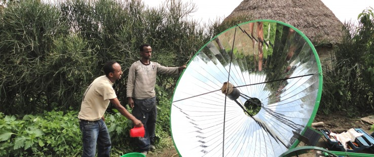 A prototype of International Development Enterprises' Clean Irrigation System in Ethiopia