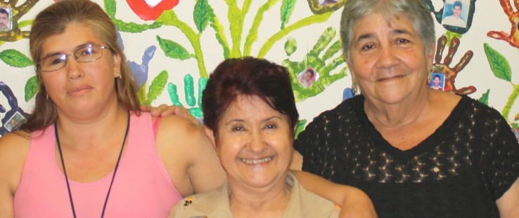 Left to right: Amanda Gallego, Teresita Gaviria and Maria Dolores Londoño