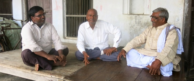 Left to right: Farmers Ramawadh Chaudhary, Ashwini Nayak and Nathuni Singh