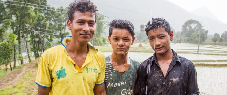 Bigyan Upreti, left, and his brothers