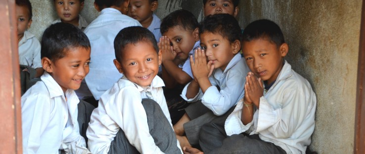 Children are back at school in Dhading district, one of the most severely hit districts during the Nepal earthquakes.