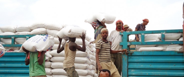 Members of the Sidama Elto Farmers Cooperative Union deliver 120 metric tons of maize to WFP Purchase for Progress program.