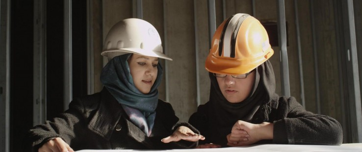 Two female engineers from Afghanistan's national power utility
