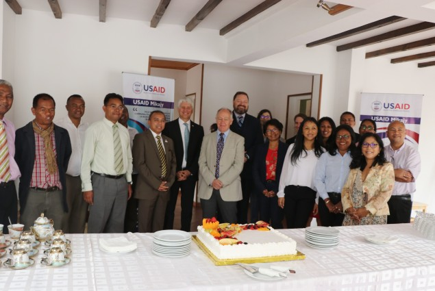 Earlier in the day, Mission Director John L. Dunlop inaugurated the new USAID Mikajy office