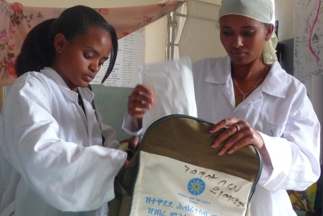 Health Workers Prepare for the Trek to a Village they Serve