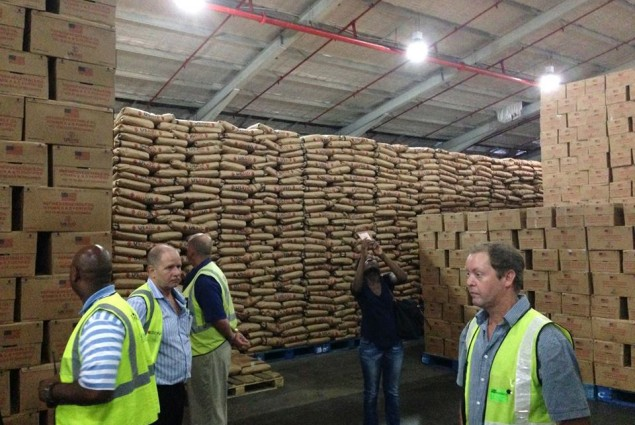 Food for Peace Warehouse in Durban, SA