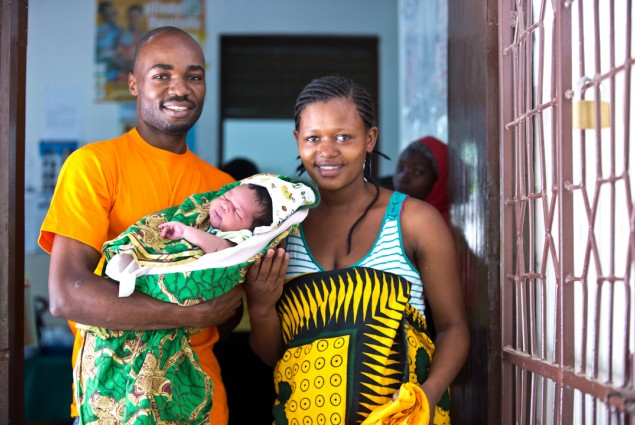Aliwansuswe Mwelembe escorts his wife to the RCH clinic