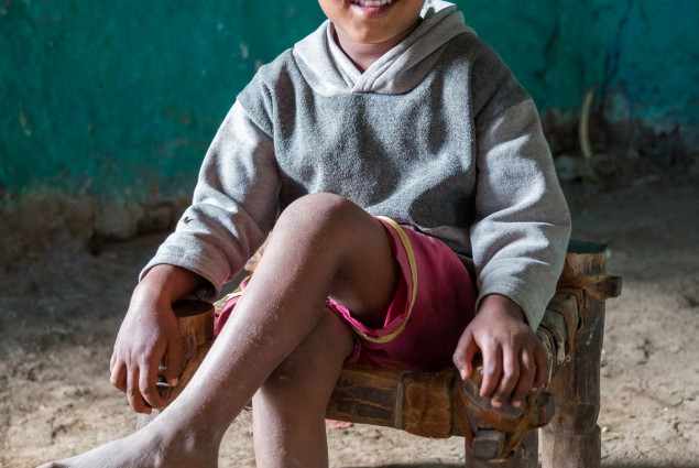 USAID beneficiary Sindayo Belay's son Berhanu, age four.