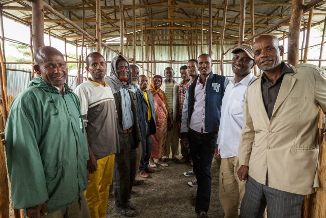 Leveraging the power of small farmers. Members of the Luge Godana Livestock Collection and Marketing Cooperative. The coop's members are working together to take advantage of the ever-increasing demand for sheep and goats (shoats) in the local and export markets.