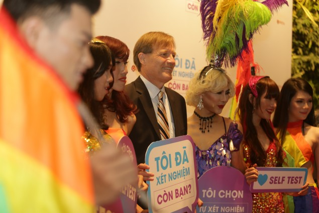Launch of innovative HIV self-testing in Vietnam.