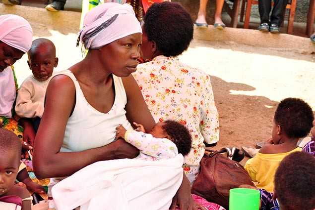 A mother and her newborn child in Rwanda