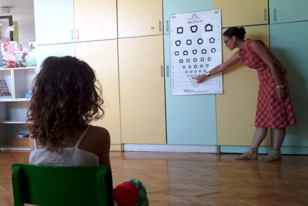 Eye screening for children in kindergarten