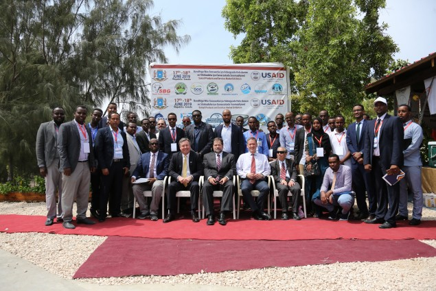 Trade symposium showcasing small businesses in Somalia supported by USAID. A growing, vibrant private-sector and the expansion of economic opportunity has built optimism across the country.