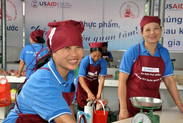 USAID supports hygienic models of meat markets and slaughterhouses to curb spread of disease