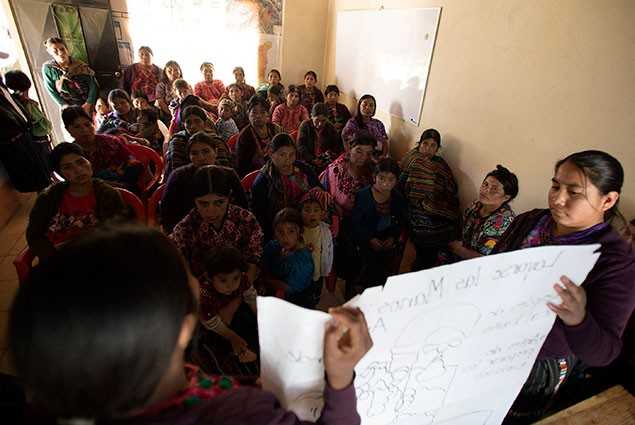 Community mobilizers conducting training