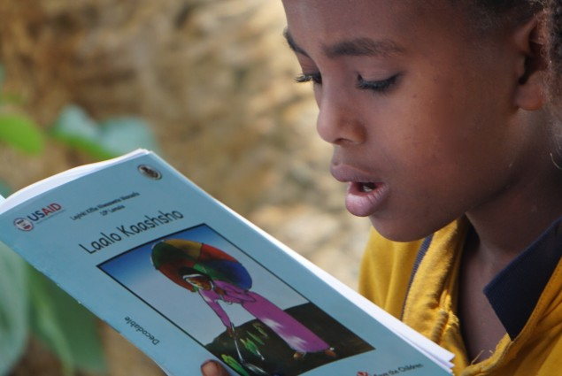 In October 2016, USAID launched the READ Community Outreach activity at Soyama Primary School. The activity will reach students in nearly 2,500 schools in the Amhara, Oromia, SNNP, Somali, and Tigray regions.