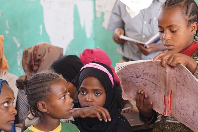 Students in schools throughout Ethiopia are working to improve their reading skills with the curriculum and textbooks developed by USAID in collaboration with the Ministry of Education..