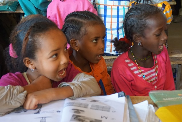 Students in schools throughout Ethiopia are working to improve their reading skills with the curriculum and textbooks developed by USAID in collaboration with the Ministry of Education.