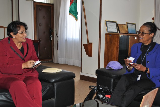 USAID S/DAA Oren Whyche-Shaw called on the Malagasy Minister of Environment, Ms. Johanita Ndahimananjara