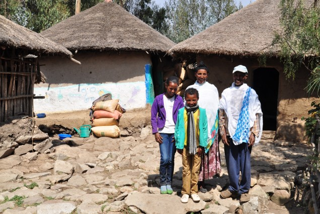 Belaynash and her husband Mekonen are a model family in Wara Village. They teach each other families health behaviors and best health practices, including the use of latrines.