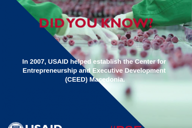 Did you know that in 2007, USAID helped establish the Center for Enterpreneurship and Executive Development (CEED) Macedonia?