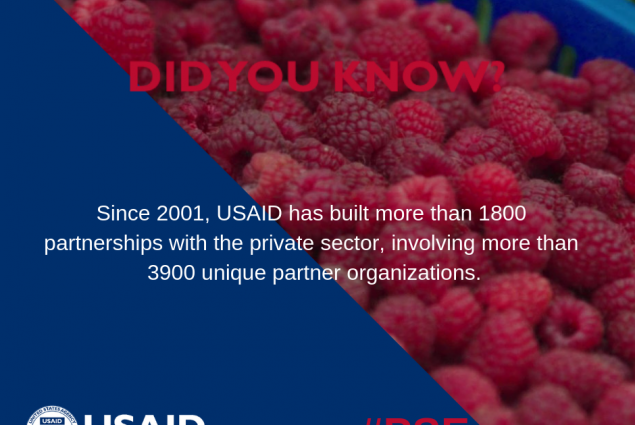 Did you know that since 2001, USAID has built more than 1800 partnerships with the private sector, involving more than 3900 unique partner organizations?