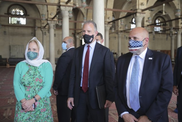 Acting Administrator Barsa's tour of USAID preservation in Old Cairo ended at the Amr Ibn El-Aas Mosque, Africa's oldest mosque. A USAID wastewater project ended flooding at the site and provided 140,000 Cairo residents with improved wastewater service.
