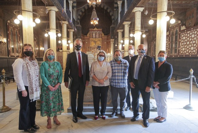Acting Administrator Barsa visited Ben Ezra Synagogue, Cairo's oldest synagogue. USAID lowered groundwater at this site to protect its foundation. USAID's preservation efforts boost tourism income and create jobs for Egyptians--all while maintaining the country's cultural heritage.