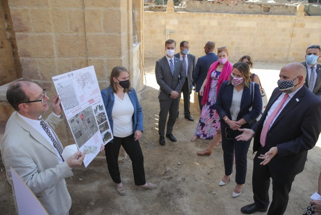 Acting Administrator Barsa toured the Bassatine Jewish Cemetery to see how the State Department's Ambassadors Fund for Cultural Preservation is supporting cultural heritage preservation and raising awareness of Egypt's history of religious pluralism.