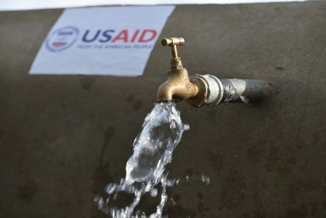 Image of water tank built with support by USAID in Ethiopia