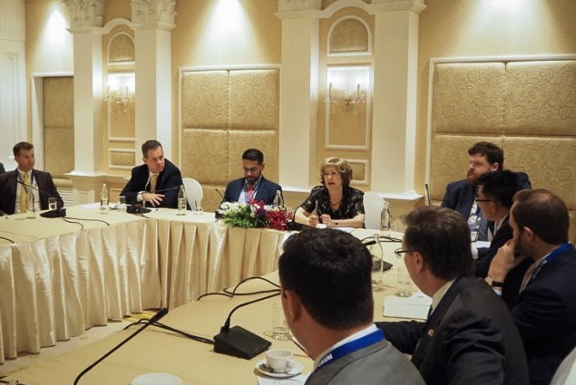 Great to meet with the US Chamber, USTDA Director Hardy, OPIC Acting CEO David Bohigian & U.S.-ASEAN Business Council representatives in Bangkok to learn about private sector needs in health, energy, digital & other sectors throughout the Indo-Pacific region.