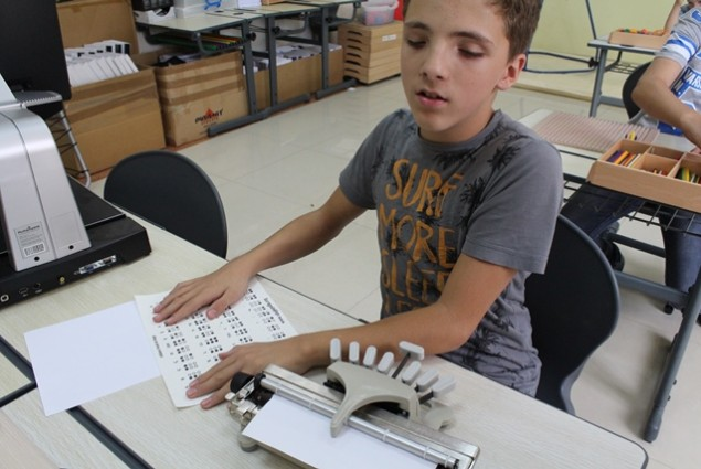 USAID's Children with Visual Impairment Project produced books in Braille