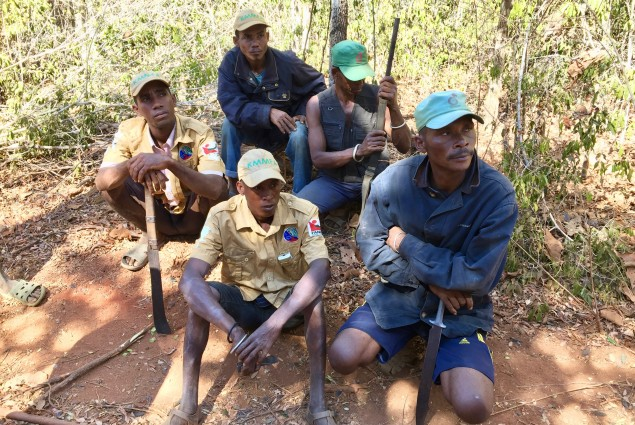 Community rangers in Menabe