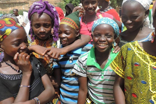 Girls in Kanikombole celebrate end of open air defecation