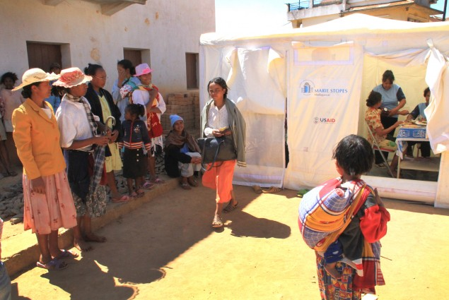 Marie Stopes' family planning mobile clinic in Andramasina
