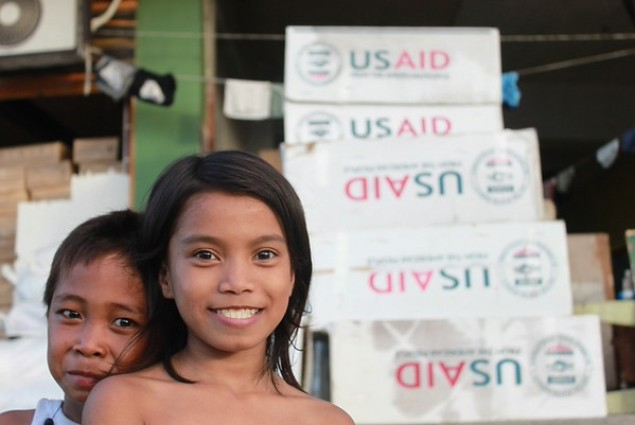Angelina is safe and sound at an emergency evacuation center in the Philippines after Typhoon Haiyan.