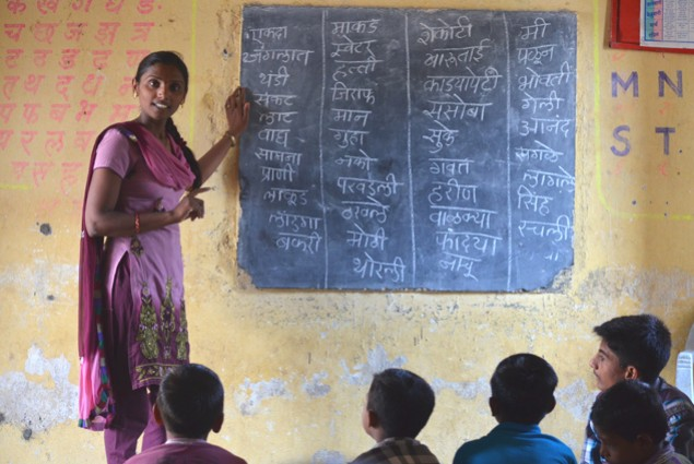 There are two essential ingredients in the Pratham model—grouping students by ability level rather than grade level, and using v