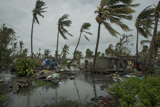 In the city of  Beira, in Sofala Province, Central Mozambique, a Category  4 Cyclone named Idai made land fall wreaking havoc knocking out power across the province and impacting every resident. Photo by Josh Estey/CARE