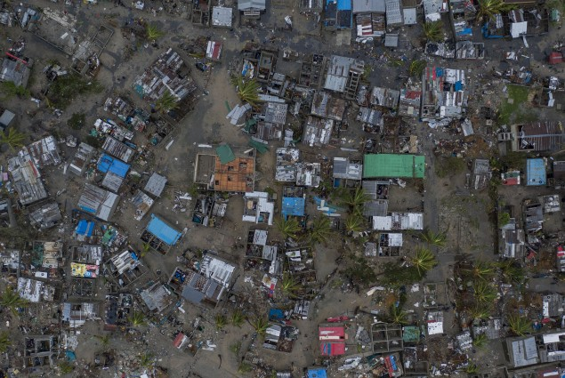 Praia Nova Village was one of the most affected neighborhoods in Beira. Being a located on the coast, this town of loosely built homes were extremely vulnerable to the high winds and rain. Following the cyclone families are returning trying to pick up the pieces of their lives.  Photo by  Josh Estey/CARE