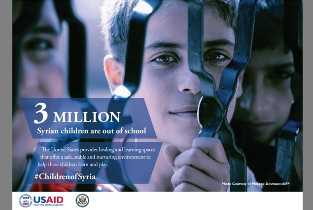 3 million Syrian children are out of school.