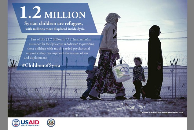 1.2 million Syrian children are refugees, with millions more displaced inside Syria