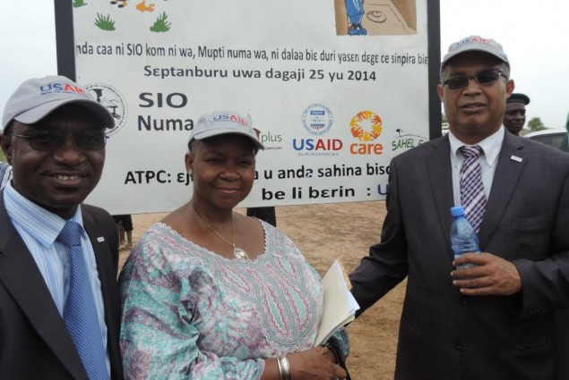 USAID Director (right), WASH Adviser (midlle), and Health Office Director