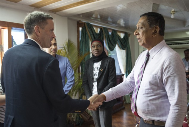 Administrator Green commends Chaguanas Mayor, Gopaul Boodhan, for his continued efforts to counter violent extremism (CVE).