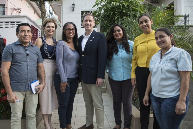 Administrator Green is honored to meet brave Venezuelans who fled to Trinidad & Tobago.