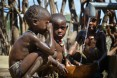 Image of children at a water pump in Ethiopia