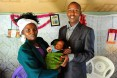 A family stands together in Kenya